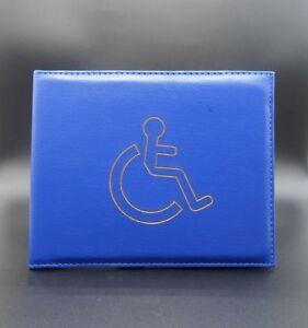 New Disabled Parking Permit Holder Badge Safe Blue Hologram Display Cover