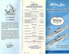 Matson Lines 1958 Cruise Brochure SS Mariposa SS Monterey to the South Pacific