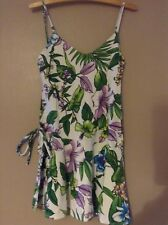 Zara summer top multi colour size medium , sleeveless with a tie waist one side