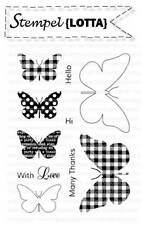 Clear Stamp Love Thanks Hello Hi Stempel Schmetterlinge Scrapbooking Embossing