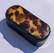 More details for lovely victorian horn & faux tortoiseshell oblong snuff box