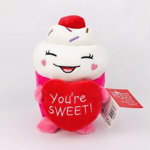 """Russ Snackeez Cupcake Food Plush 9"""" You're Sweet Soft Stuffed Toy Collectible"""