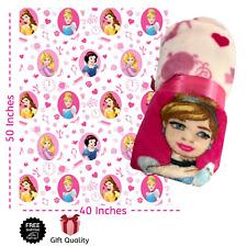 Disney Princess Girls Kids Throw Travel Blanket Officially Licensed