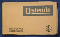 12 Ansichtskarten Postkarten Ostende um 1920 Belgien Fotografie Landeskunde sf