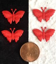 25 Red Butterflies Fabric Scrapbooks Cardmaking Butterfly Invitations crafts bug