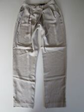 NWT ZARA Woman Ice Gray Loose Fit Side Zip Pleated Draped Trouser Pants S
