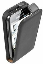 Black Leather vertical Flip Case cover pouch for Samsung GT-S5830i Galaxy Ace