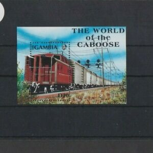 Gambia 1991 The World of the Caboose M/Sheet MNH per scan