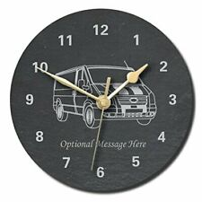 Ford Transit Design Slate Clock - Personalised with text of your choice (Larg...