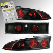 MITSUBISHI ECLIPSE CLEAR BLACK TAIL TRUNK LIGHTS +SUPER WHITE LICENSE PLATE BULB