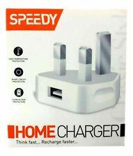 Fast Dual 2 Port USB Charger 1 Port USb 3 Pin UK Mains Wall Plug Adapter 2.1A
