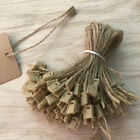 100x Hemp Rope Hanging Tablets Sling Label Lanyard Cord Clothes Price Tag String
