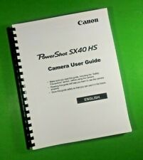 """LASER 8.5X11"""" Canon SX40 HS Power Shot Camera 220 Page Owners Manual Guide"""