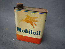 Antico bidone d'olio Mobiloil Olio motore garage vintage anno 1950 automobile