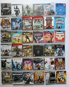 PS3 Sony PlayStation 3 Video Games You Choose Various Titles Clean Tested Works