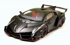 Kyosho 1:18 Lamborghini Veneno, matte black, die cast metal sealed body design