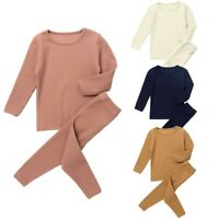 Toddler Baby Boys Girls Outfits Long Sleeves Top Pants Homewear Casual Clothes