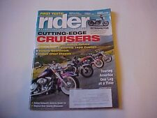 RIDER September 2014--BMW Ducati Harley Honda Moto-Guzzi Kawasaki Indian Victory