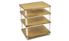 Apollo Storm 6 - Hi-Fi Stand (4 Shelf) (Gloss White & Oak)