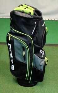 Cobra Lightweight Cart Bag - Black / Grey / Yellow - 14-Way and 9 Pockets