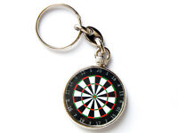 DART BOARD Sport Quality Chrome Keyring Picture Both Sides