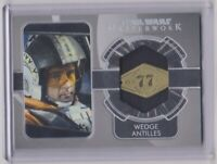 2020 Topps Star Wars Masterwork WEDGE ANTILLES Dog Tag Red 5 Relic Card # 90/99