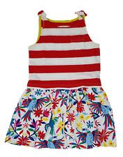 Ex Mini Boden Girls red Stripe Hotchpotch Bow Jersey dress ages 2-10 NEW