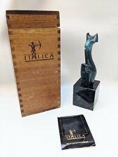 Vtg Italica Bronze Tony Morey Danza Abstract Modern Nude Woman Statue Sculpture