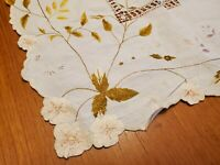 Vintage Handmade Embroidered Table Cloth