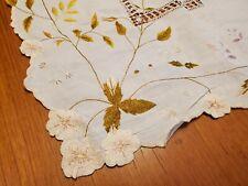 Vintage Handmade Embroidered Table Cloth