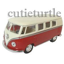 Kinsmart 1962 VW Volkswagen Classic Bus Samba 1:32 Diecast Cream Color Top Red