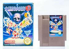NES MEGA MAN 3 in OVP, ohne Anleitung Nintendo PAL B NOE Guter Zustand
