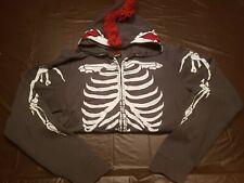 Tony Hawk Skelehawk Mohawk FaceMask Hoodie Sweatshirt Jacket sz XL