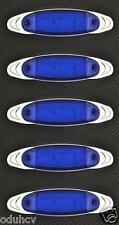 5 X 12 LED BLEU 12V LATÉRAL CHROME côté FEUX DE POSITION VOITURE SUV VAN BUS