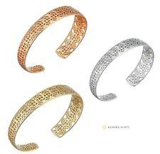 NEW Authentic KENDRA SCOTT Fashion UMA Rose Gold Rhodium Logo Cuff Bracelet