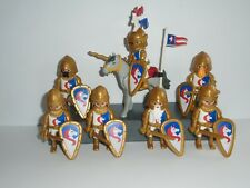 PLAYMOBIL - 7 UNICORN KNIGHTS (1 MOUNTED) WITH AND ACCESSORIES