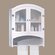 NEW! WHITE WOOD LINEN WALL CABINET-BATHROOM STORAGE - DECOR FURNITURE~Reg.$210.