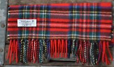 Women Mens IRISH 100% Wool Royal Red Stewart Scarf Scarves Christmas Non-Itchy