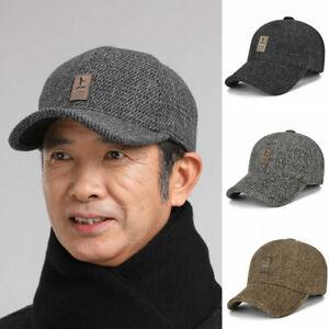 Men's Warm Ear Protection Woolen Hat Unisex Sports Fashion Outdoor Baseball Caps