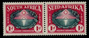 SOUTH AFRICA 1939 SG83 KGVI 1d.+1d. ANNIVERSARY OF HUGUENOT LANDING  -  MH/MM