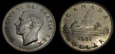 Canada 1951 One 1 Dollar Piece King George VI AU-50 SWL Short Water Line