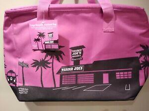 Trader Joe's Fuchsia Edition Large Reusable Insulated Shopping  Bag 8 Gallon