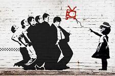 Banksy Madness One Step Beyond Stencil Pop Art SKA Street Graffiti Print UK 3d