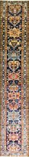 "2'9"" x 17' fabulous Antique  Heriz, Serapi Oriental Runner , . #17011"