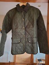 Ladies Barbour Light Padded Jacket Green - size UK 16