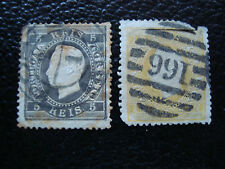 PORTUGAL - timbre yvert et tellier n° 26 27 obl (2eme choix) (A19) stamp