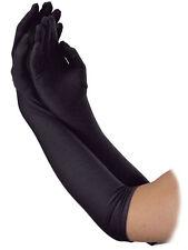 Long Black 1920s Style Flapper Show Girl Charleston Gloves Fancy Dress Accessory