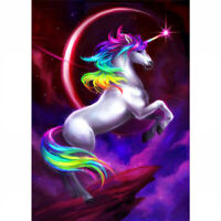 Full Drill 5D Diamond Painting Crafts Cross Stitch Kits Home Arts Unicorn