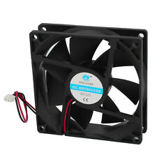 90mm x 25mm 12V DC Brushless 36.42CFM Computer PC Case Cooling Fan Black