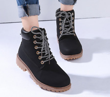 Women's Outdoor Work Boots Winter Leather Boot Lace up Waterproof Snow Boot Lot